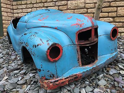 "Very Early ""jr"" Stamped Austin J40 Pedal Car Steel Shell Bonnet & Boot"