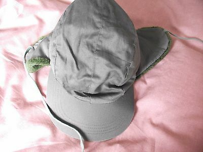 Gents Khaki Hat With Ear Flaps & Ties - Bnnt