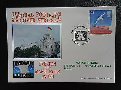 1995 EVERTON V MANCHESTER UTD Wembley  DAWN 15TH OFFICIAL FOOTBALL COVER No.37