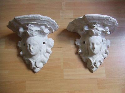 Antique Pair of Very Decorative Plaster Supports