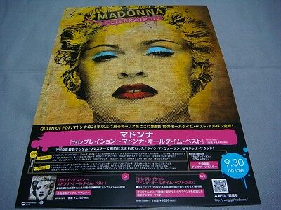Madonna Celebration Japan Album Ad Flyer