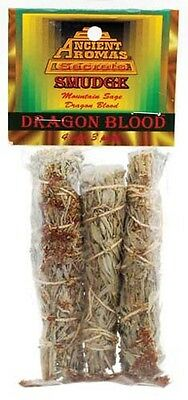 Dragon's Blood smudge 3-pk. 4 in.