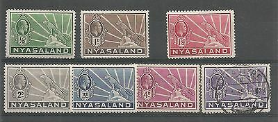 NYASALAND 1938-44 SYMBOL OF PROTECTORATE 6 MM + 6d USED  REF 1141