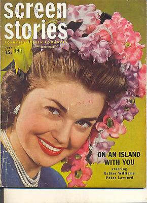 Movie Magazine - Screen Stories 7/48 Esther Williams cover