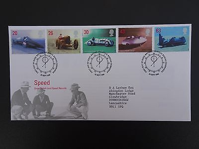 "Gb Fdc 1998 "" Speed"" Royal Mail First Day Cover Bureau Shs"