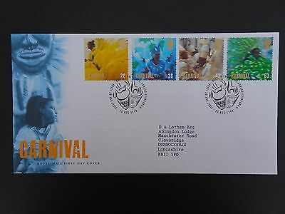 "Gb Fdc 1998 "" Carnival"" Royal Mail First Day Cover Bureau Shs"