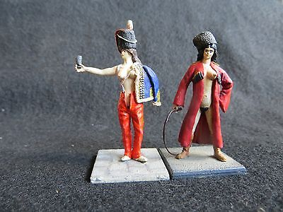 54mm white metal figures painted