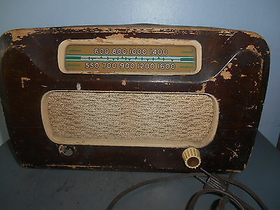 Vintage Philco Wood Case Tube Radio Model #1063OD Parts or Repair
