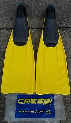 Cressi Clio Rondine Fins. Adult size  7/8 Yellow