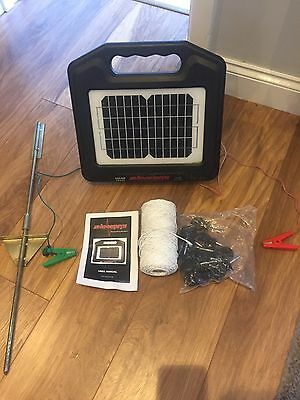 Shockrite Solar Electric Fence Energiser + All Leads, Polywire And Insulators