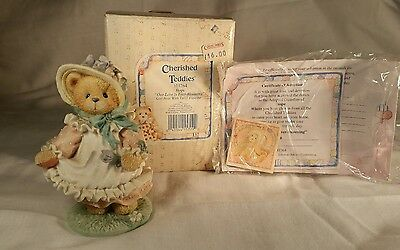 Boxed Cherished Teddies Hope Our Love is Ever-Blooming Enesco 103764 Figure