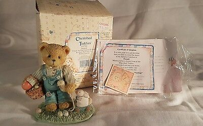 Boxed Enesco Cherished Teddies Donald Friends are Egg-Ceptional Blessings Easter