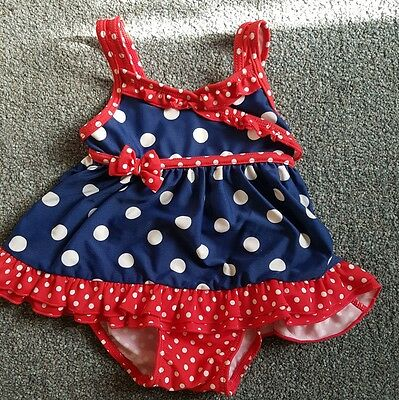 Girls swimming costume age 9-12 months