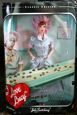 I Love Lucy Job Switching Barbie Episode 39 Mattel 1998 Collector NRFB