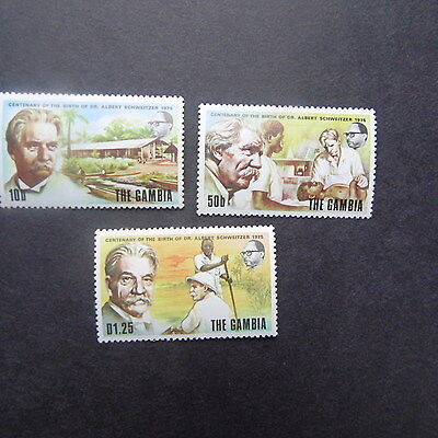 Gambia 1976 Anni. of Independence Set  mnh