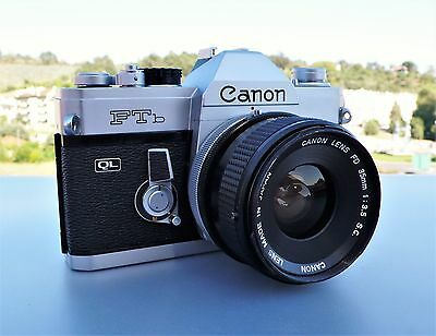 Canon FTb QL with Canon FD 35mm 1:3.5 S.C. lens