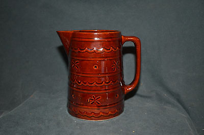 Vintage Marcrest Stoneware Brown 1 Quart Pitcher