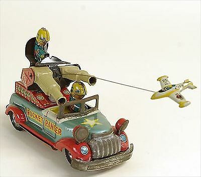 Vintage! 1950s Marusan ROCKET RANGER Tin Toy From Made in Japan Free Shipping