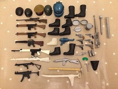 Vintage Action Man,  Job lot weapons and accessories Rare