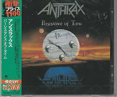 Persistence of Time by Anthrax (CD, Jun-2013, Universal) Japan Import New
