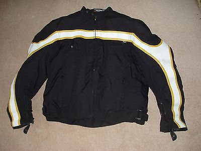 Triumph men's textile and leather motorcycle jacket size UK 48
