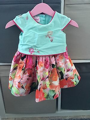 Fabulous Baby Girls Ted Baker Floral Dress 0-3 Month Worn Once