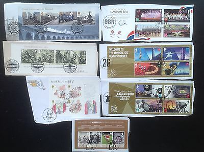 GB Stamps 2012 7 x Minisheets Ex FDC High Value HV Commemoratives Olympics
