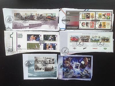 GB Stamps 2013 6 x Minisheets Ex FDC High Value HV Commemoratives Dr Who Tennis