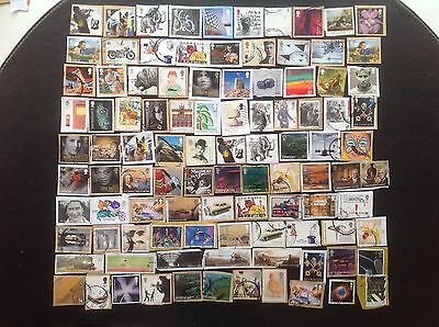 100 Different GB High Value HV Commemorative Stamps Great Britain Commems 1
