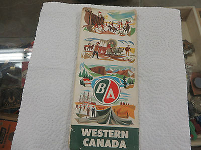 1957 British American Oil Co. Western Canada Road Map