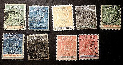 British South Africa (Rhodesia) Small Collection Of M/u 8 Pence 2 Shades Unusual