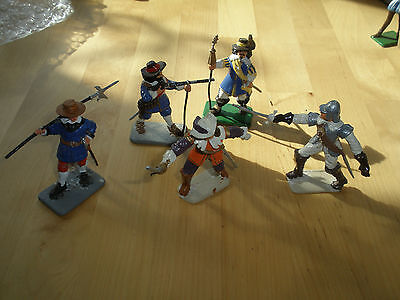 Aprox 50 Years Old Very Rare Hand Painted E Cavaliers And One Roundhead