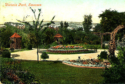 GLAMORGANSHIRE - 1907 Postcard of Victoria Park, Swansea (Posted Mumbles)