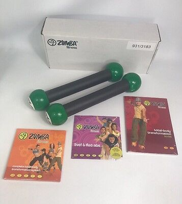 ZUMBA Fitness Brand New DVD Exercise Kit Includes Toning Sticks