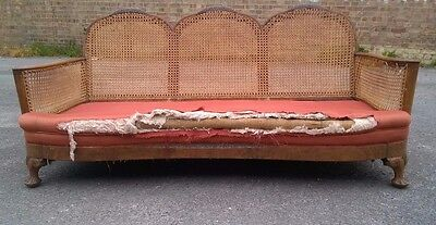Antique Vintage Bergere Settee