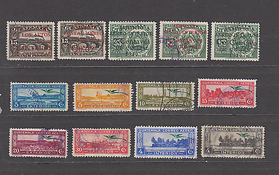 GUATEMALA 1930s NICE USED SELECTION