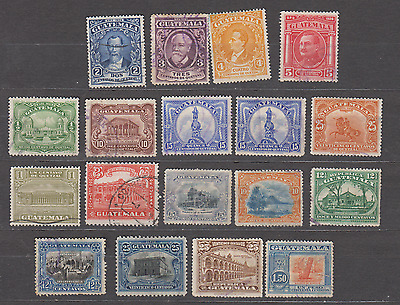 GUATEMALA 1920s DEFINITIVES MINT USED