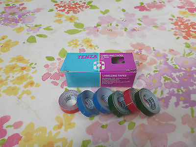 "8X TENZA Coloured Labelling Tapes 1/2"" X 3M Embossing Adhesive Rolls Label Maker"