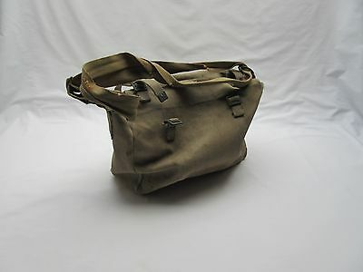Vintage WW2 1941 army soldier military? canvas shoulder kit bag personal gear ,