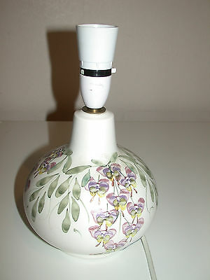 Rye  C.p.p. Pottery  Hand Painted  Lamp Base