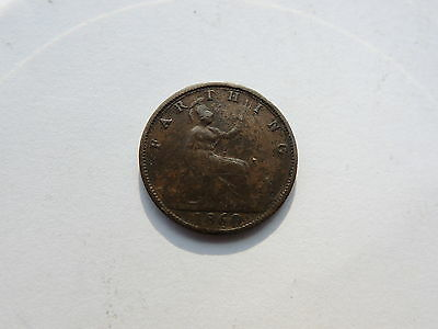 1860 QUEEN VICTORIA FARTHING COIN - Ref S135