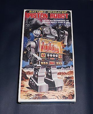Top Original Karton PISTON ROBOT 60er 70er Space Toy Vintage Japan Roboter OK