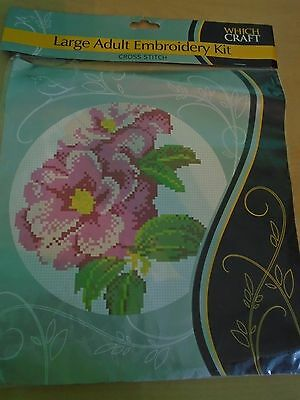 Embroidery Kit - Cross Stitch - Roses - Which Craft - NEW