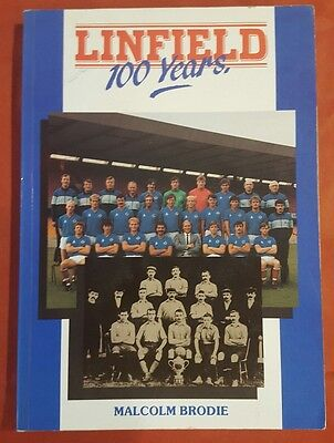 LINFIELD 100 YEARS  by MALCOLM BRODIE