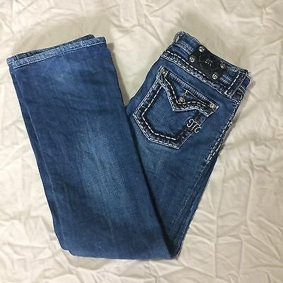 Girls Miss Me Jeans Size 14 Distressed Boot Cut
