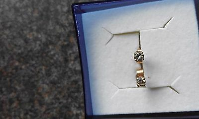 9ct Gold Diamond Stud earrings screw backs