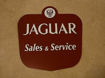 Jaguar Sales & Service Heavy Metal Dealer Sign