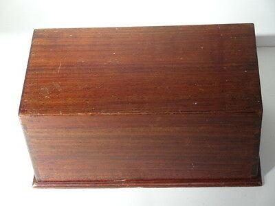 Antique Mahogany Wood Work Sewing Box with Internal Tray