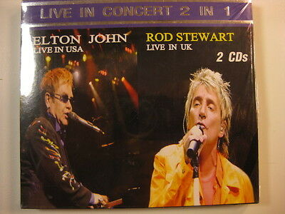 "ELTON JOHN Rod Stewart Russia/Poland 2CD ""Live in Concert"" RARE SEALED"