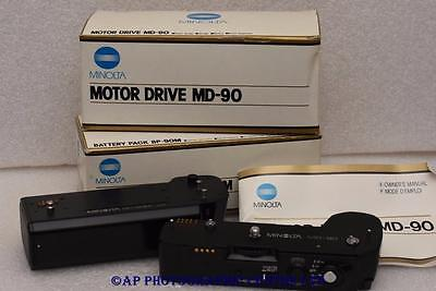 Minolta Motor Drive MD-90 BP-90M Battery Pack GREAT CONDITION